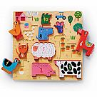 123 Barnyard Wooden Stacking Puzzle