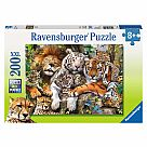 200 Piece Puzzle, Big Cat Nap