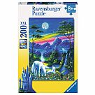 200 Piece Puzzle, Moonlight Unicorns