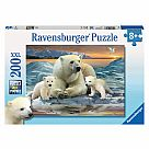 200 Piece Puzzle, Polar Bears