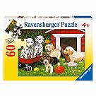 60 Piece Puzzle, Puppy Party