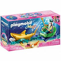 Playmobil 70097 Mermaid King of the Sea with Shark Carriage