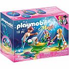 Playmobil 70100 Mermaid Family with Shell Stroller