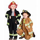 Jr. Fire Fighter Costume Tan (Size 2-3)
