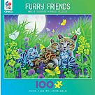 100 Piece Puzzle, Family Cat