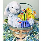 Baby Bunny Basket - Blue (For Babies)