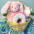 Baby Bunny Basket - Rainbow Pink (for Babies)