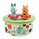 Forest Friends Twirling Music Box