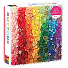 500 Piece Puzzle, Rainbow Buttons
