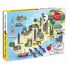 1000 Piece Puzzle, New York City Map
