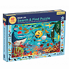 64-Piece Puzzle, Search and Find Ocean Life