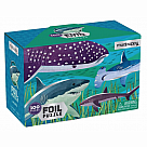 100 Piece Puzzle, Sharks with Foil