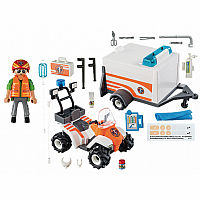Playmobil 70053 Rescue Quad with Trailer