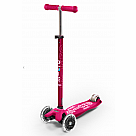 LED Wheels Micro Maxi Deluxe Scooter, Pink