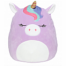 "16"" Squishmallow, Silvia Purple Unicorn with Rainbow Bangs"