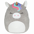 "16"" Squishmallow, Teresa Silver Unicorn with Rainbow Bangs"