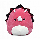 "16"" Squishmallow, Tristan Red Triceratops"