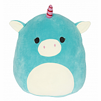 "16"" Squishmallow, Ace Teal Unicorn"