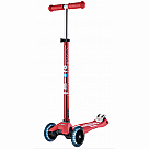 LED Wheels Micro Maxi Deluxe Scooter, Red