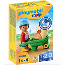 Playmobil 70409 Construction Worker with Wheelbarrow