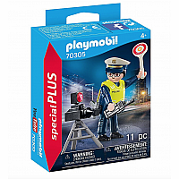 Playmobil 70305 Police Officer with Speed Trap
