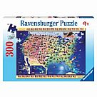 300 Piece Puzzle, USA Map