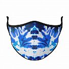 Large Adult Face Mask, Blue Tie-Dye