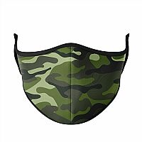 Medium Face Mask for Adults & Kids Ages 8+, Green Camo