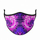 Small Kid's Face Mask Ages 3-7, Purple Tie-Dye