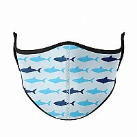 Medium Face Mask for Adults & Kids Ages 8+, Shark Life