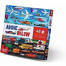 48 Piece Floor Puzzle, Things That Go Above-Below
