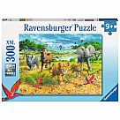 300 Piece Puzzle, African Animal Babies
