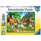 100 Piece Puzzle, Animal Get Together