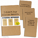 Antisocial Media Notebooks (Set of 3)