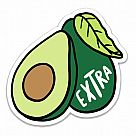 Avocado Extra Vinyl Sticker