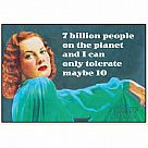 7 Billion People on the Planet Magnet
