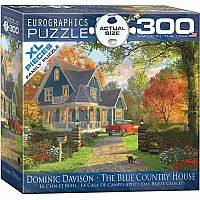 300 Piece Puzzle, Blue Country House