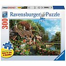 300 Piece Large Format Puzzle, Cottage on a Lake