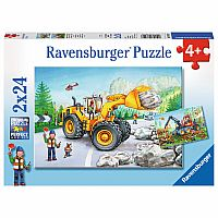 2x24 Piece Puzzle, Diggers at Work