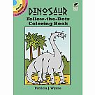 Dinosaur Follow-the-Dots Coloring Book