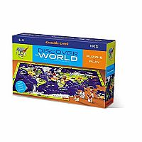 100 Piece Floor Puzzle, Discover the World