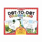 ABC Dot to Dot Coloring Pad - Farm