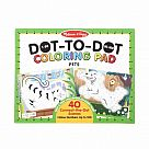 123 Dot to Dot Coloring Pad - Pets