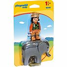 Playmobil 9381 1.2.3. Elephant and Zookeeper