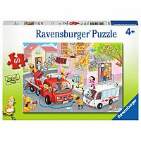 60 Piece Puzzle, Firefighter Rescue