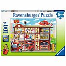 100 Piece Puzzle, Firehouse Frenzy