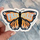 Free Spirit Butterfly Vinyl Sticker
