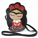 Frida with Roses Crossbody Bag
