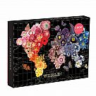1000 Piece Puzzle, Full Bloom World Map