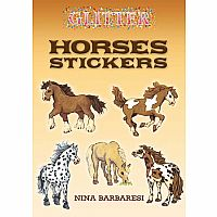 Glitter Horses Stickers